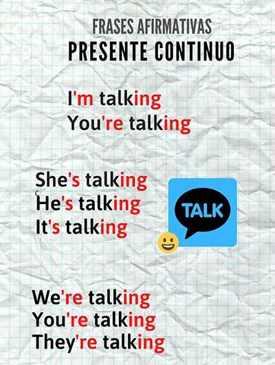Presente progresivo en inglés